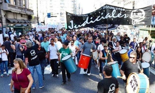 Sin ser convocados por Vidal, los Judiciales van al paro y movilización