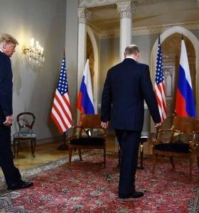 Trump y Putin en su primera cumbre bilateral en Helsinski