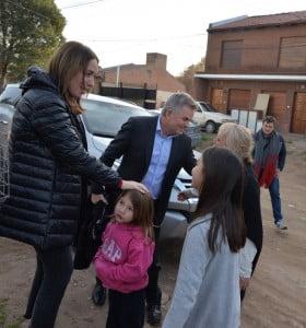 Vidal visitó la ciudad y se reunió con vecinos