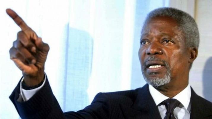 Murió Kofi Annan, ex secretario de la ONU y Nobel de la Paz