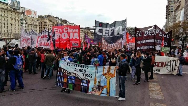 Día de marchas y ollas populares