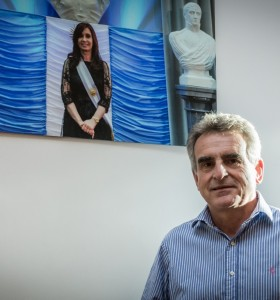 El guiño de Agustín Rossi a Felipe Solá para 2019