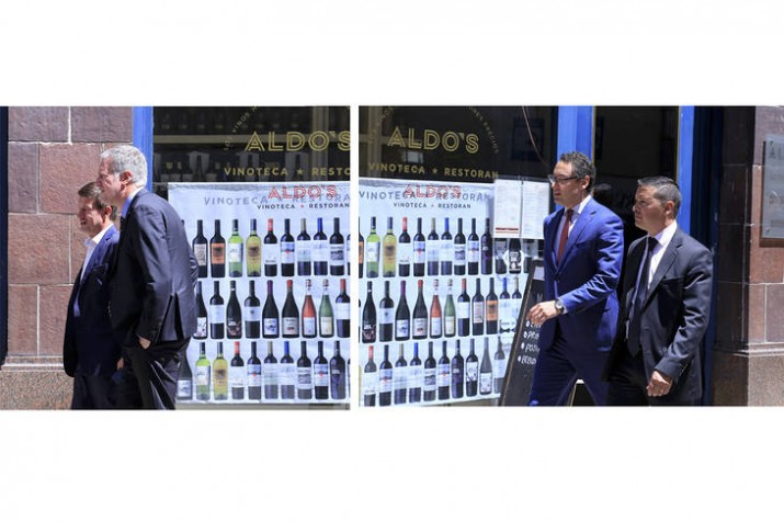 Las fotos de la sugestiva reunión entre el titular de la AFIP y el juez Ercolini