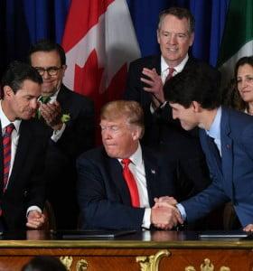 Libre comercio: EE UU, México y Canadá firmaron nuevo tratado