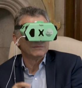 """""""Está bajando"""", la realidad virtual macrista"""
