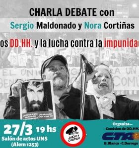 Nora Cortiñas y Sergio Maldonado en Bahia Blanca