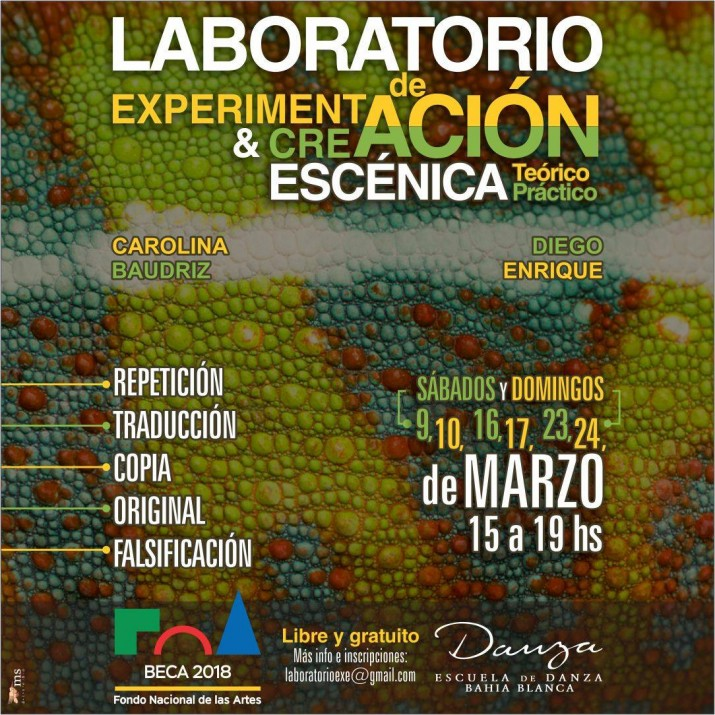 Laboratorio de Experimentación y Creación Escénica – Beca FNA