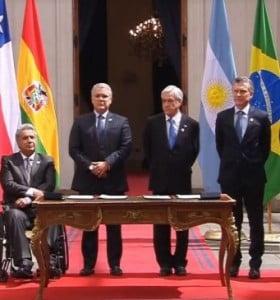 Macri suscribió en Chile a la creación de ProSur