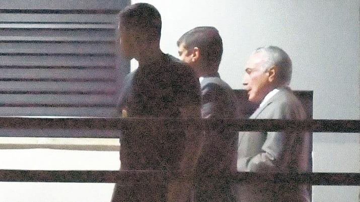 La detención de Temer duró tan solo cinco días