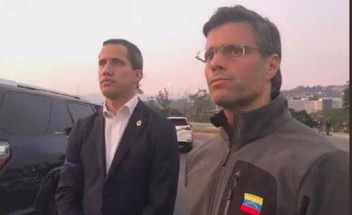 Liberaron a Leopoldo López y Guaidó convocó a las FF.AA. a un golpe de Estado