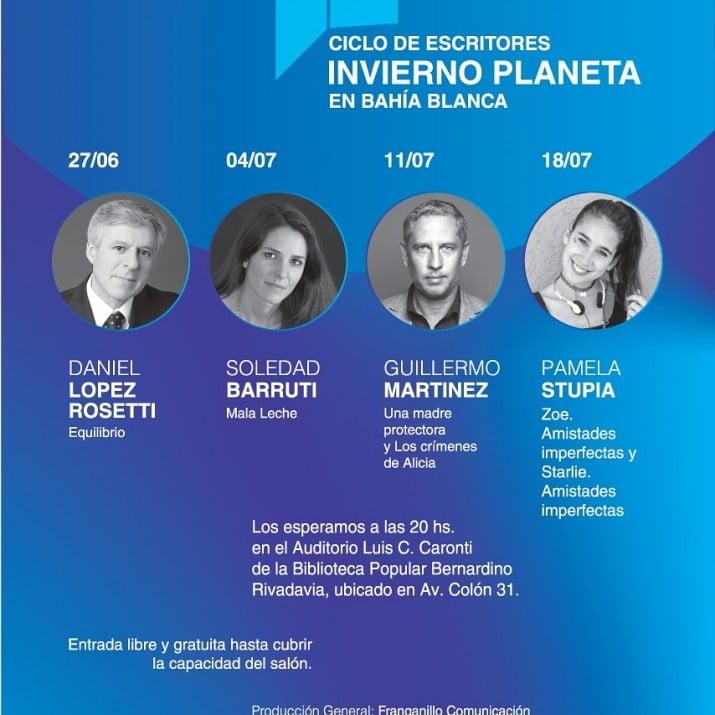"""Daniel López Rosetti abrirá el ciclo """"Invierno Planeta en Bahía Blanca"""""""