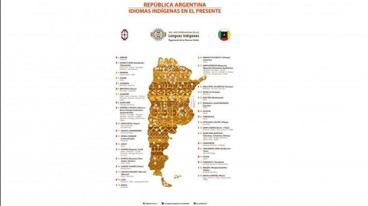 El mapa de las lenguas indígenas en Argentina
