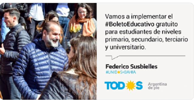 Susbieles lanzó el #BoletoEstudiantil