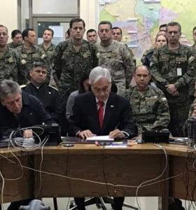 """Piñera redobla la apuesta contra los manifestantes: """"Estamos en guerra"""""""