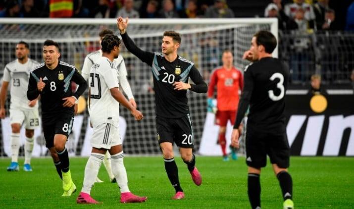 Argentina mostró dos caras y empató con Alemania en Dortmund
