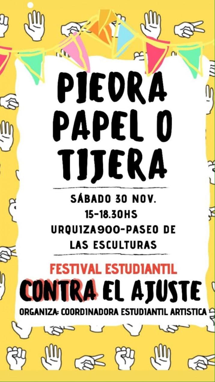 """Festival artístico """"Piedra, papel o tijera"""""""
