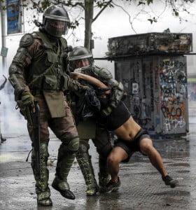El desborde en Chile