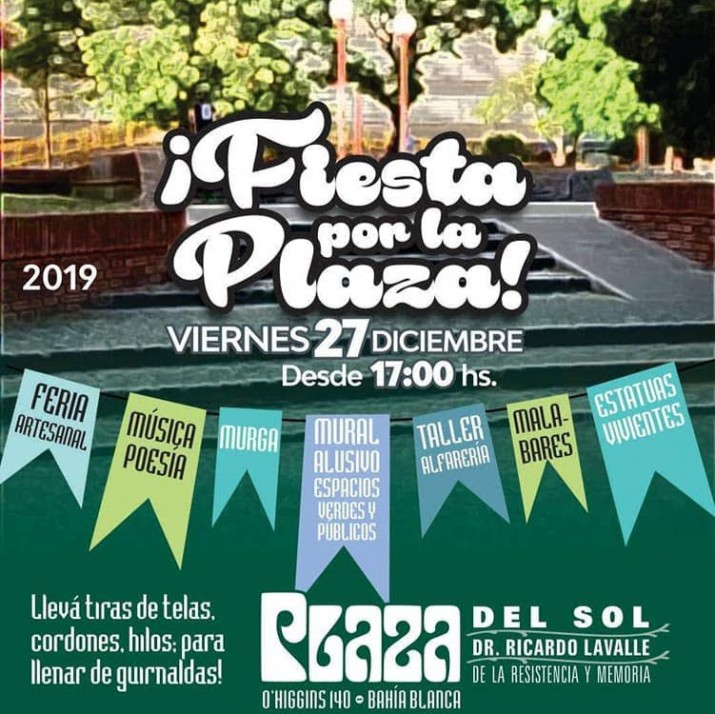 ¡ Fiesta por la Plaza !: defendamos el espacio publico