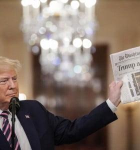 Rodeado por su tropa, Trump celebró su absolución