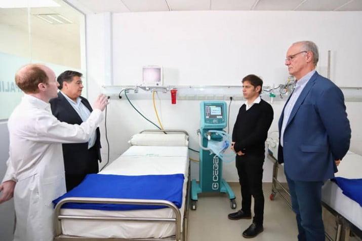 Kicillof puso en marcha el primer Centro de Emergencia para la pandemia