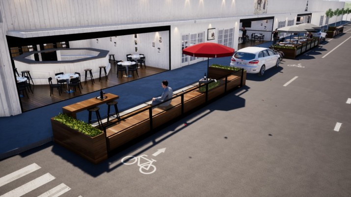 El Municipio y el sector gastronómico evalúan el uso de Plataformas Urbanas
