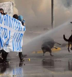 Violenta marcha estudiantil en Chile