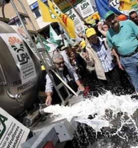 Ya se desecharon 4 millones de litros de leche por el conflicto tambero