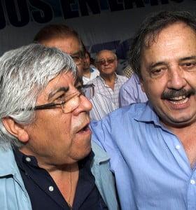 Alfonsín se mostró junto a Moyano durante la protesta en Plaza de Mayo