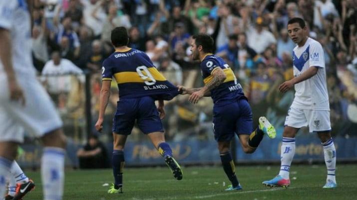 Boca jugó su mejor partido del torneo y venció a Vélez en la Bombonera