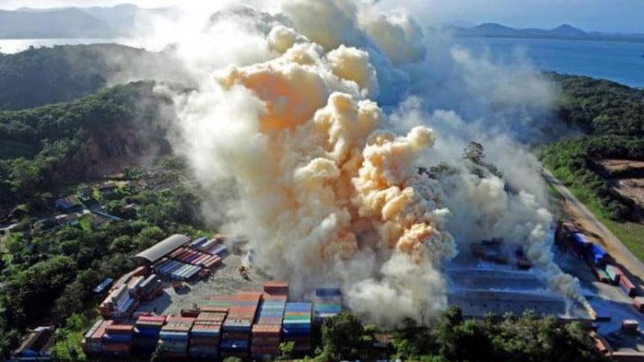 Pánico en Brasil por una nube tóxica gigante