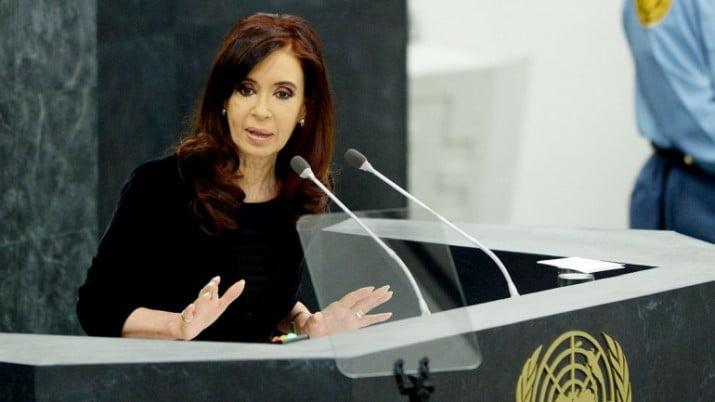 """Cristina, ante la Asamblea de la ONU: """"No hay guerra justa, lo único justo es la paz"""""""