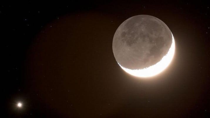 Espectáculo en el cielo: la Luna ocultará a Venus por una hora