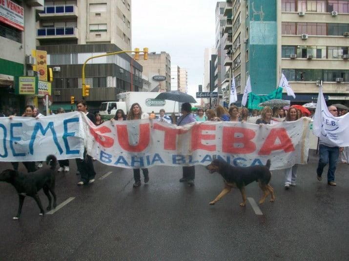 SUTEBA: docentes vuelven a realizar medidas de fuerza