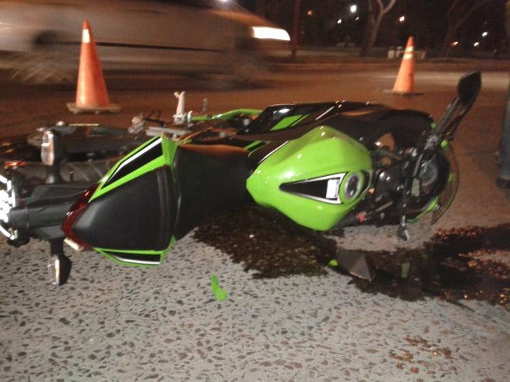 Choques entre motos y autos