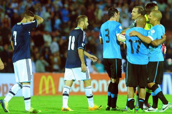 Argentina cayó ante Uruguay en el cierre de las Eliminatorias 2014