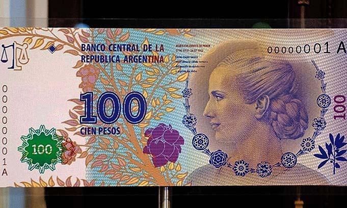 Los billetes de Evita se venden a más del doble de su valor en sitios de Internet