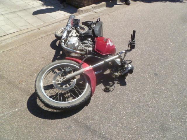 Motociclistas accidentados en distintos accidentes durante la mañana