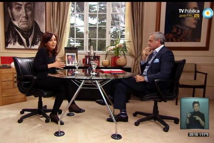 Hoy se verá la segunda parte de la entrevista de Cristina con Jorge Rial