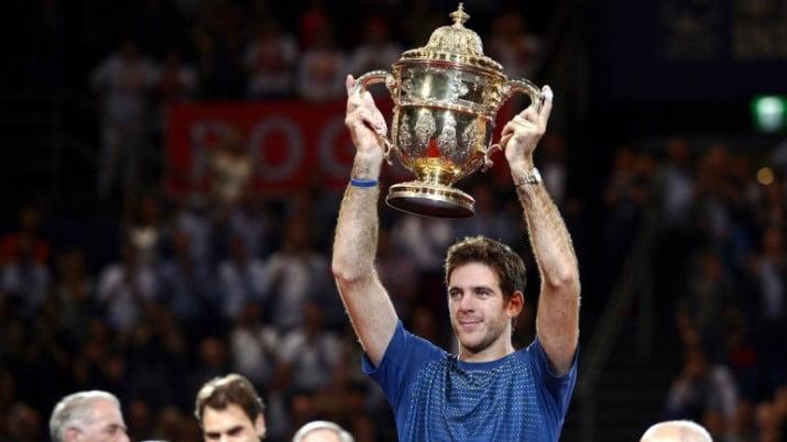 Del Potro derrotó a Federer y se consagró campeón en Basilea