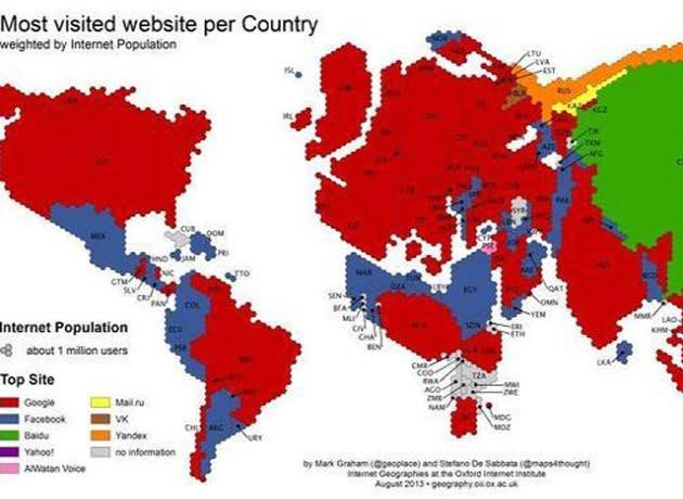 ¿Cuáles son, país por país, las páginas webs más visitadas del mundo?