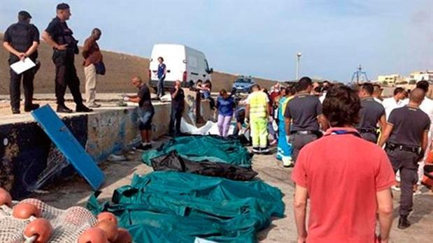 Ya recuperaron 194 cuerpos del naufragio de Lampedusa y prosigue la búsqueda