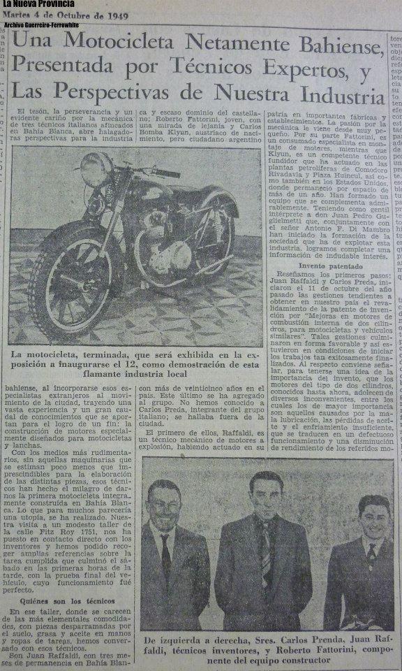 Tras la huella de la primer moto bahiense