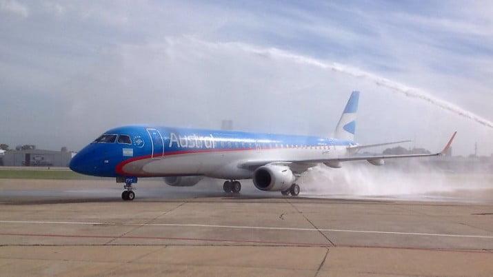 Se despistó un avión en Ezeiza