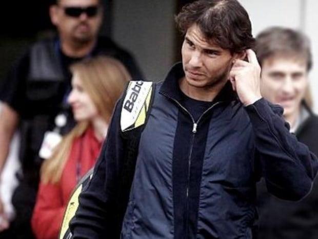 Nadal llega al país para jugar con Nalbandian y Djokovic