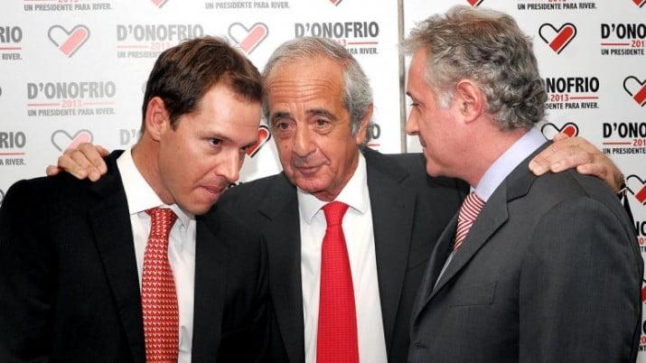 D'Onofrio oficializó su candidatura en River junto a Brito y Patanian