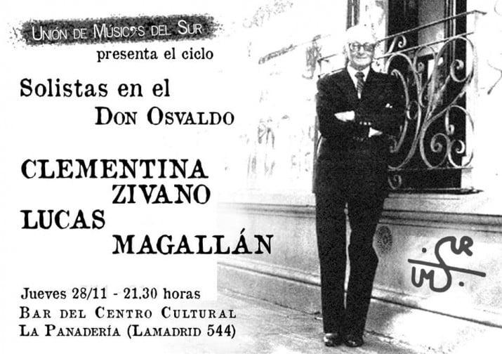 """""""Solistas en el Don Osvaldo"""" continúan en La Panadería"""