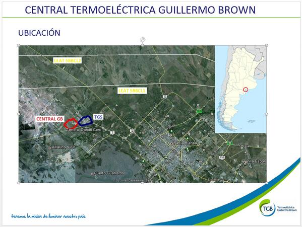 """Avanza el proyecto para la construcción de la """"Central Termoeléctrica Guillermo Brown"""""""