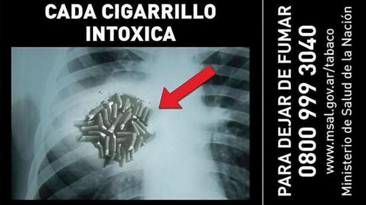 """Cómo serán los nuevos mensajes """"anti tabaco"""" en el 2014"""