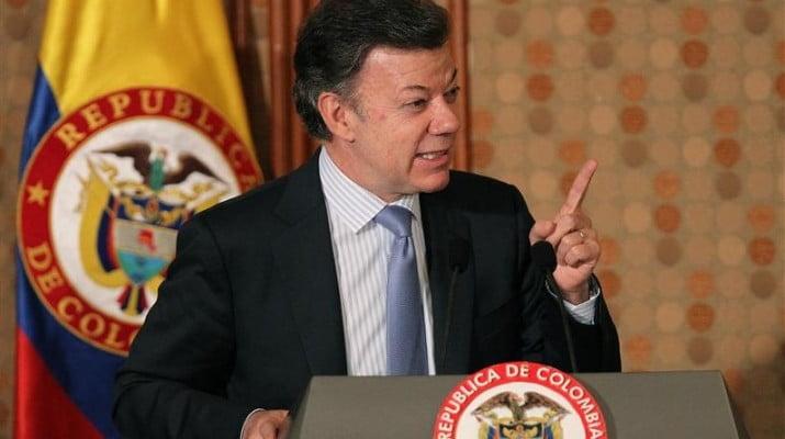 """""""Vamos a continuar con la ofensiva sobre las FARC"""", aseguró Santos"""
