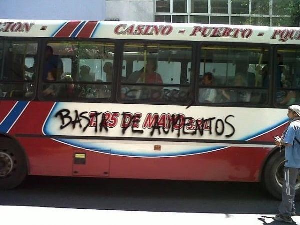 """Boleto:denuncian """"represión"""" en Mar del Plata"""